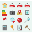 Set of icons for web site Real Esta vector image