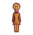 businessman with bulb head idea creativity vector image