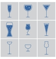 drink glasses vector image