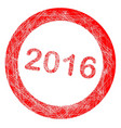 2016 rubber stamp vector image