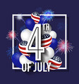 4th july celebration background design vector image vector image