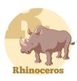 ABC Cartoon Rhinoceros vector image vector image
