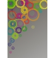 Abstract gray background with colored circles vector image vector image