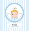 angel with dove on top of his head vector image vector image