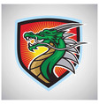 angry dragon logo esport mascot design vector image