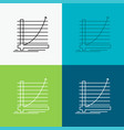 arrow chart curve experience goal icon over vector image vector image