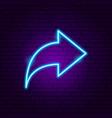 arrow neon sign 2 vector image vector image