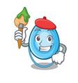 artist oxygen mask character cartoon vector image