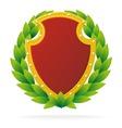 award as ruby shield vector image vector image