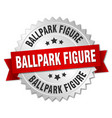 ballpark figure round isolated silver badge vector image vector image