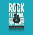 banner for rock festival of live music vector image vector image