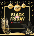 black friday sale banner poster logo christmas vector image vector image