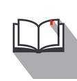 book icon simple flat design education symbol vector image vector image