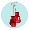 boxing leather gloves in red and black color vector image vector image