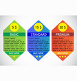 business info graphics tabs template for vector image vector image