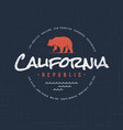 california republic t-shirt and apparel design vector image