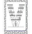 cartoon letter v drawn in the shape of house vector image