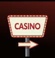 casino banner sign background vector image vector image