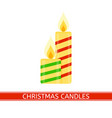 christmas candles isolated vector image vector image