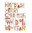 Christmas greetings Decorative lettering for vector image vector image