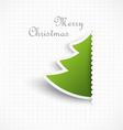 christmas tree design vector image vector image