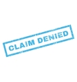 Claim Denied Rubber Stamp vector image vector image