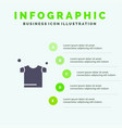 clothes drying shirt solid icon infographics 5 vector image
