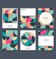 collection of six cards with colorful vector image vector image