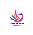 colorful bird abstract logo design template vector image vector image
