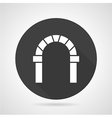 Curved archway black round icon vector image vector image