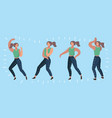 dancer pose set dynamic vector image