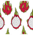 dragonfruits seamless pattern for your design vector image