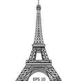 eiffel tower in paris eps 10 vector image