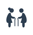 elderly people icon vector image