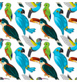exotic birds seamless pattern vector image vector image