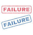 failure textile stamps vector image vector image