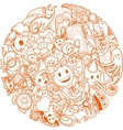 funny doodles background vector image
