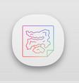game map app icon virtual video computer vector image