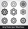 Gear wheels icons set vector image vector image