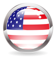 Gloss Button with American Flag vector image