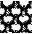 graphic flaming heart pattern vector image vector image