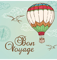 Green vintage background with air balloon vector image vector image