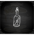Hand Drawn Message in a Bottle vector image vector image