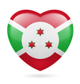 Heart icon of Burundi vector image vector image