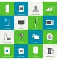Household appliances flat icons vector image