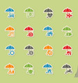 insurance icon set vector image
