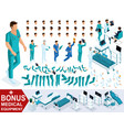 isometrics create your character doctor vector image vector image