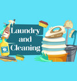 laundry and cleaning housekeeping chores vector image vector image