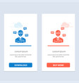 man manager sms chat popup blue and red download vector image