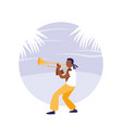 man playing trumpet avatar character vector image vector image
